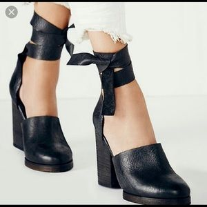 Free people Cora ankle wrap heels